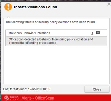 malicious behavior detection fileless malware